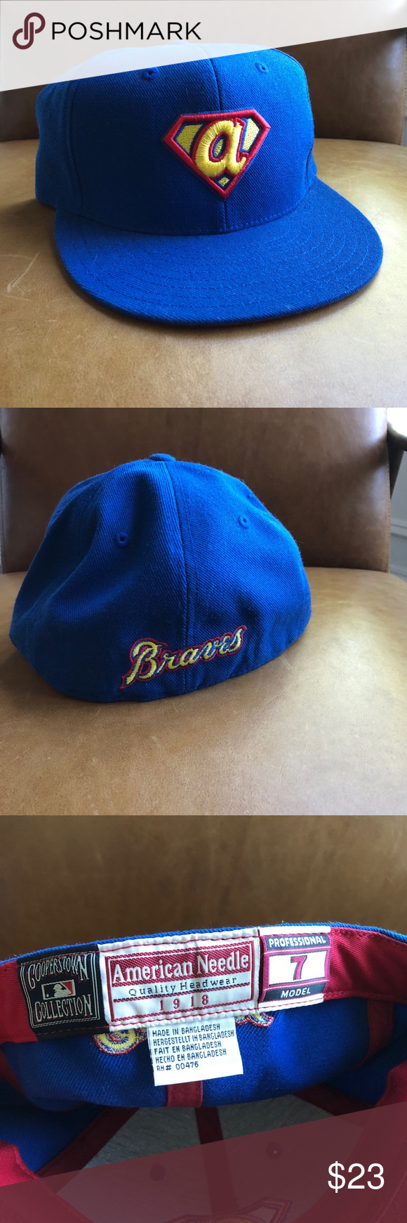 Atlanta Braves Fitted Baseball Cap Amer Needle From Mlb Cooperstown Collection American Needle Quality Headwe Fitted Baseball Caps Atlanta Braves Baseball Cap