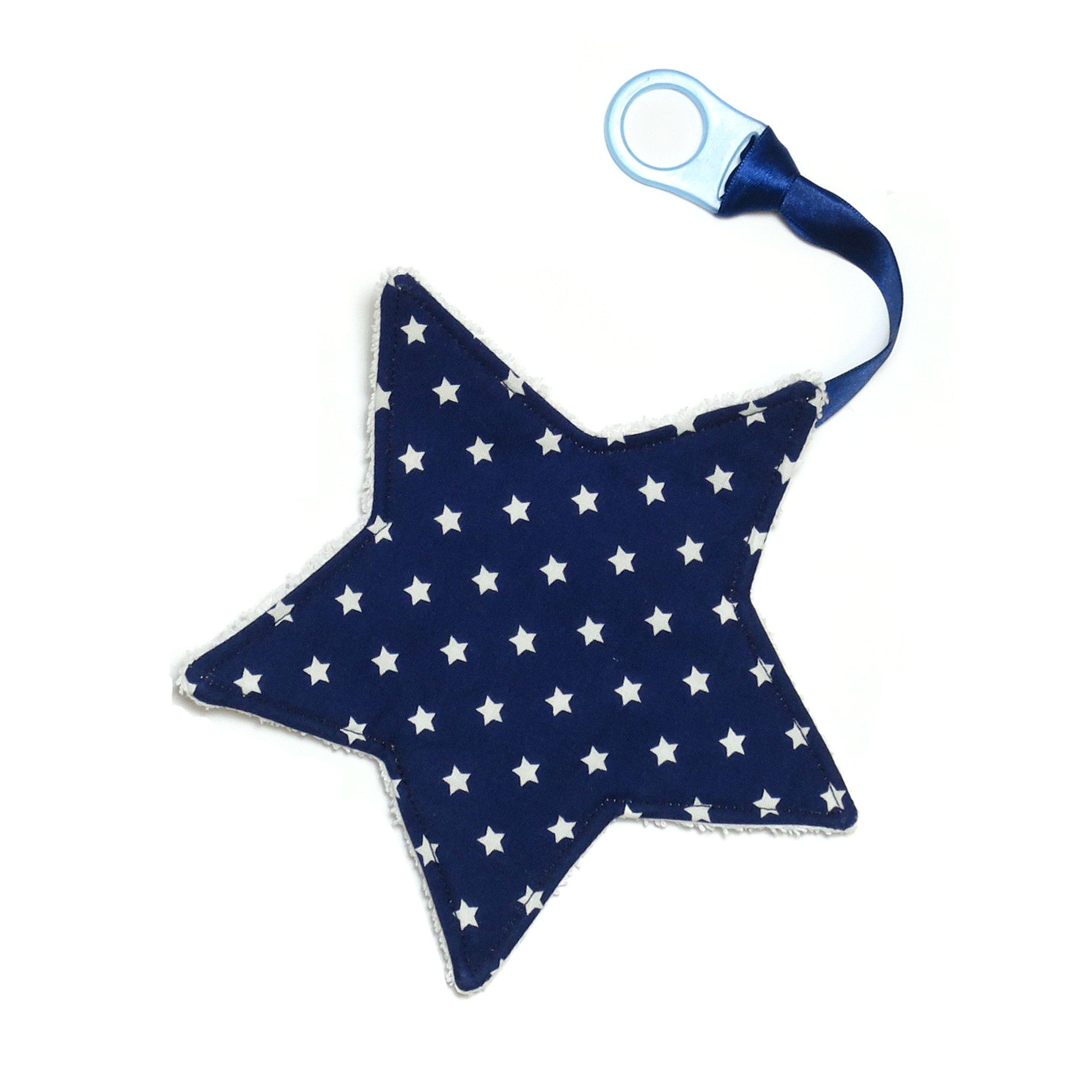 Schnullerband mit Sabberstern - Blau mit Sternen   Blausberg Baby