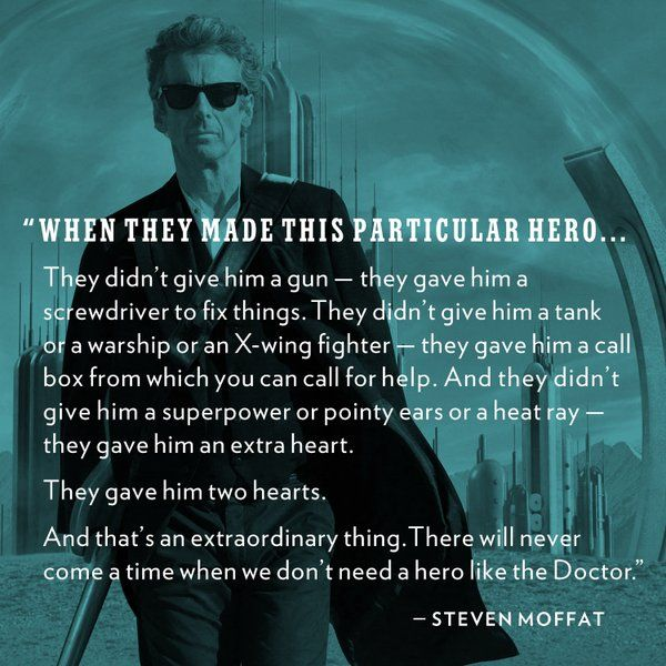 Image result for dr who quote peter capaldi we gave him two hearts