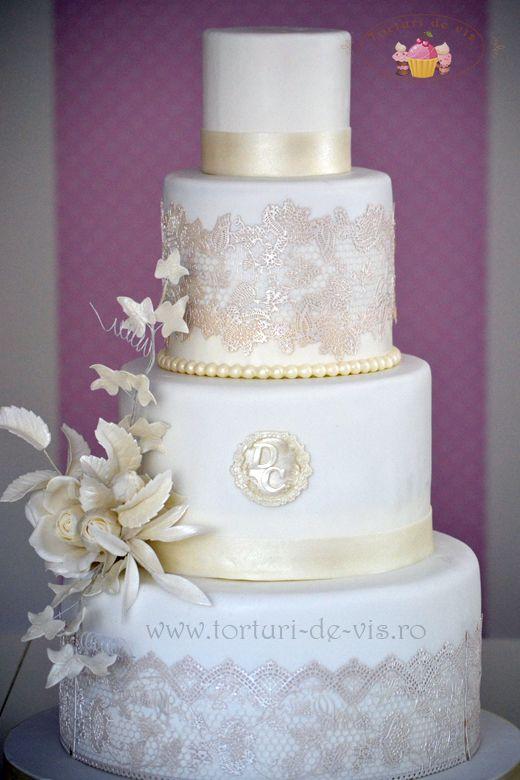 Tort Nunta Elegant Cakes Pinterest