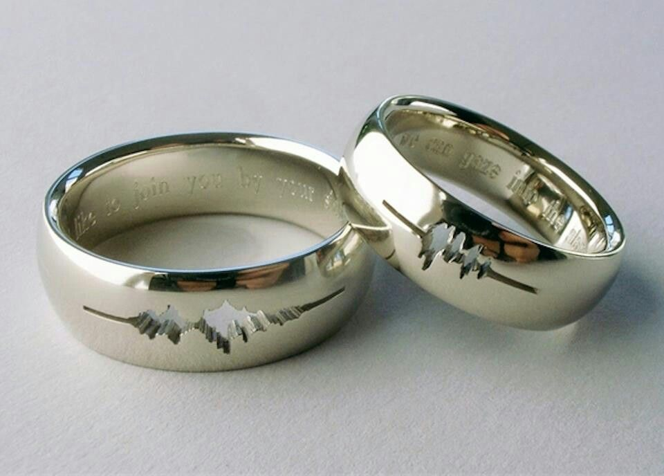 Spouses whisper Ring http://mashable.com/2013/08/14/wedding-rings-geeky/#gallery/23-adorkable-wedding-rings-to-geek-out-over/52448b49b05f9d7ce800157b