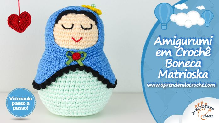 Matryoshka amigurumi pattern, crochet doll pattern, Heart ... | 392x696