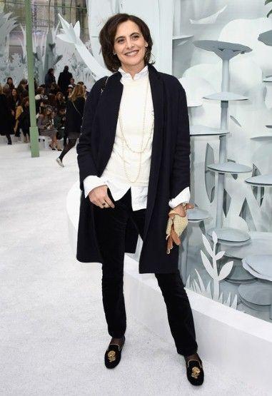 Ines de la Fressange, attending Chanel show for Spring/Summer 2015; photo Getty, via the Telegraph