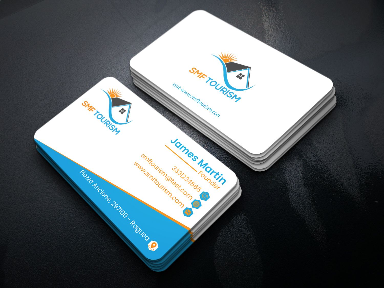 new business card design simple business card rounded