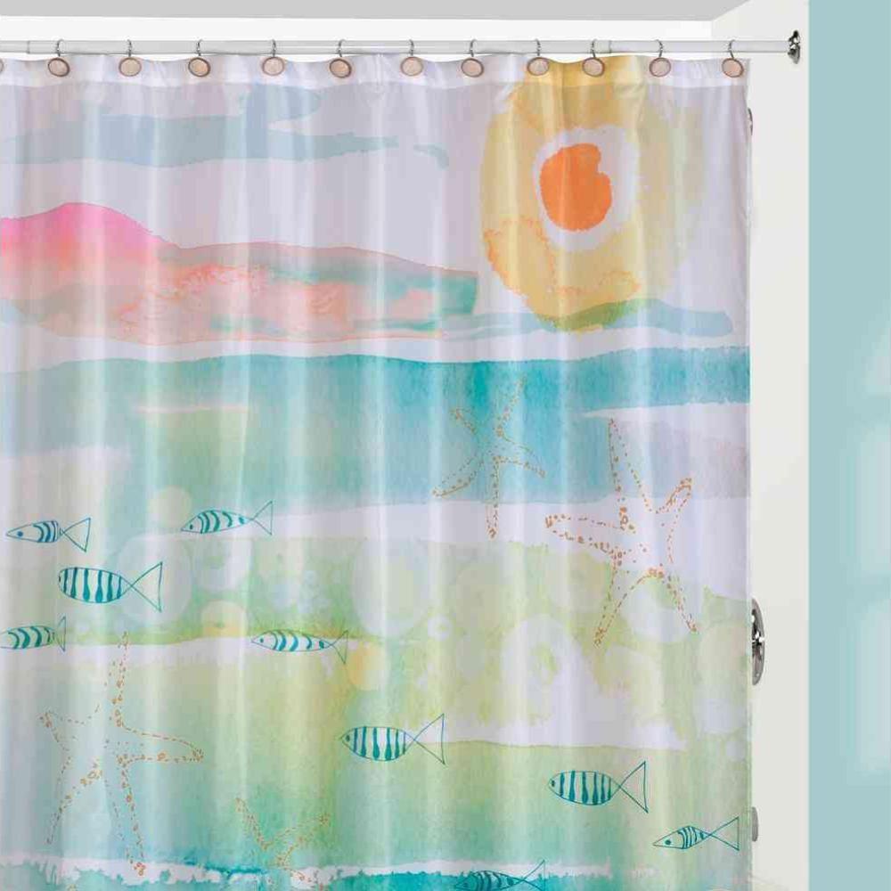 Creative Bath By The Sea Beach Themed Shower Curtain Curtain