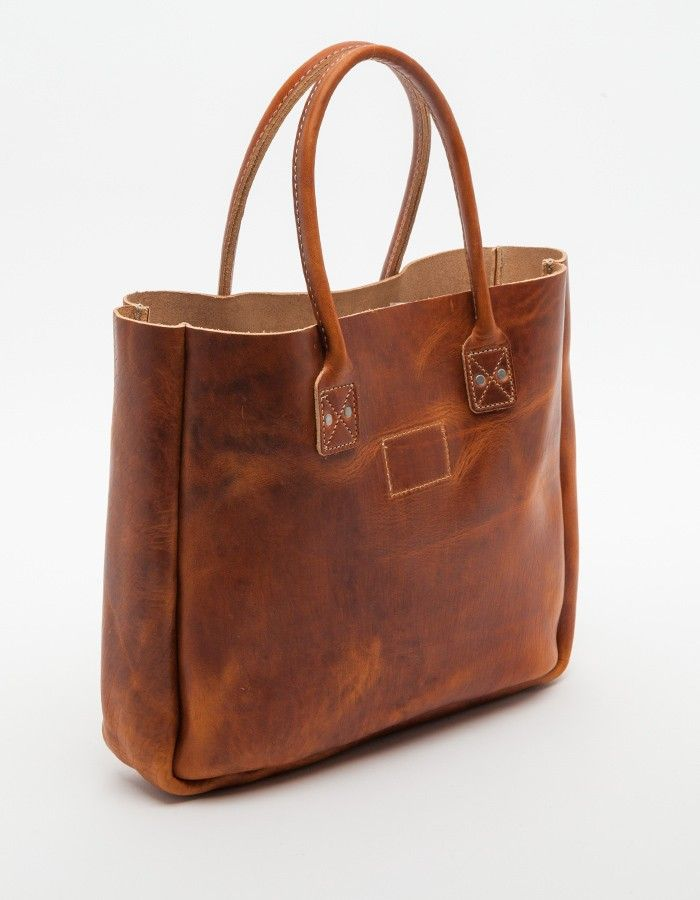 Leather Tote in Tan