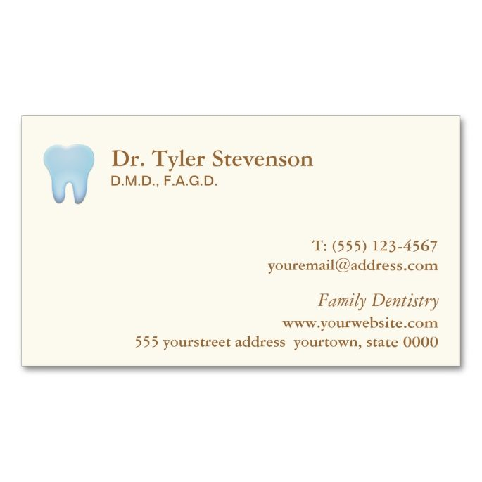Dentist business card dental dentist business cards pinterest dentist business card this great business card design is available for customization all text style colors sizes can be modified to fit your needs colourmoves