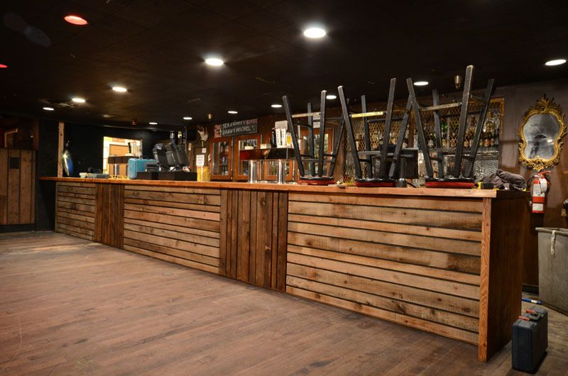Wood Bar Front Tresen Design