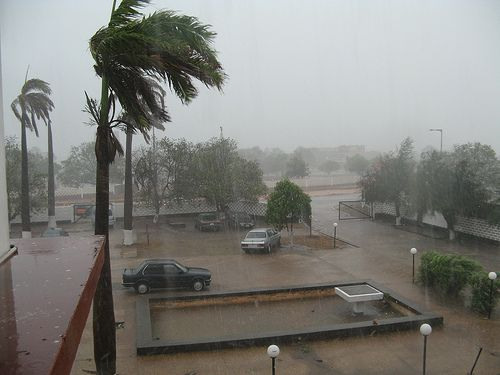 tropical downpour in Accra