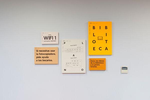 Señalización para Idep Barcelona Querida, a través de Behance