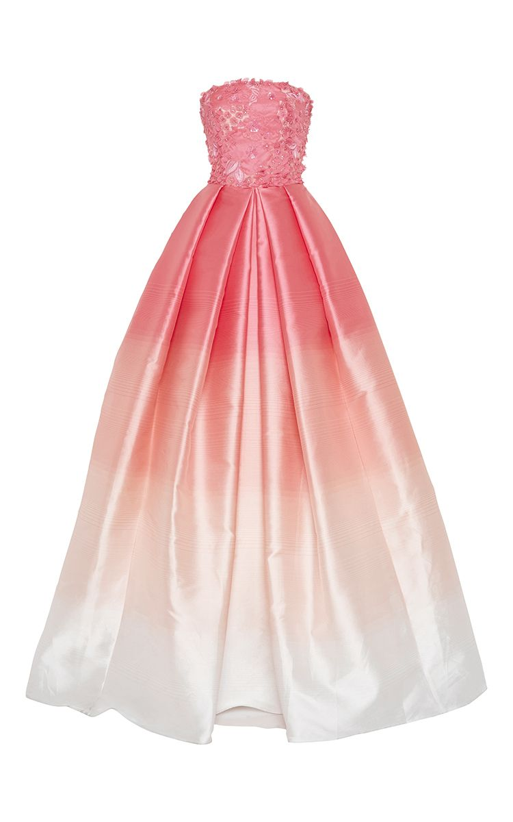 Naeem khan ombre strapless ball gown special occasion style