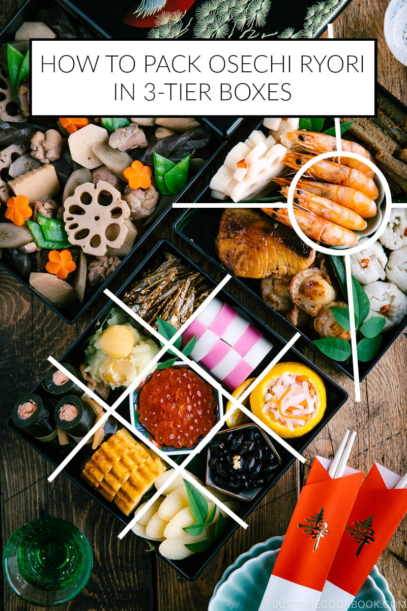 How to Pack Osechi Ryori in 3Tier Boxes (With images
