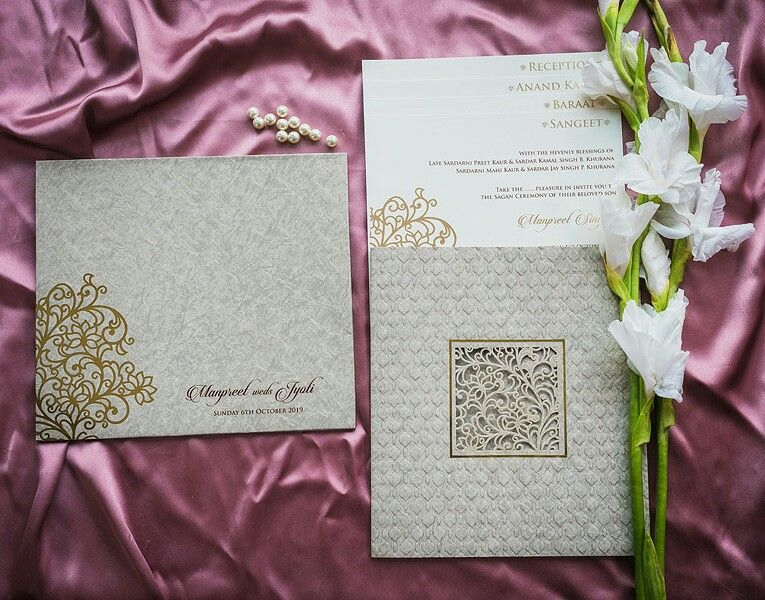 simple and elegant style indian wedding invitation cards