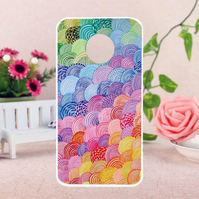 92f7cf428 Mobile Phone Cases for Motorola Moto E4 Plus Cover Moto E Plus (4th Gen.)  Case Soft TPU Abstract Colorful Bag Skin Housing