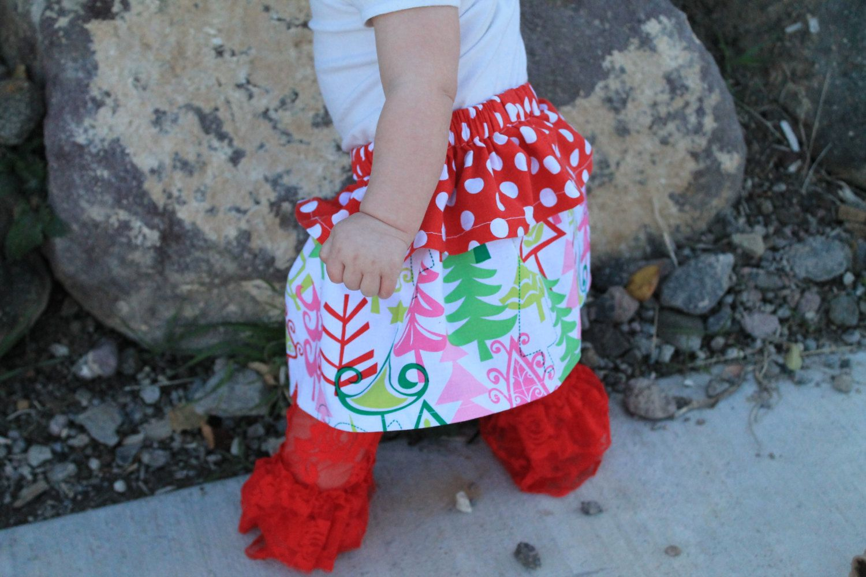Jolly Holiday Peplum Skirt for Baby Girl by BabyBirdShop on Etsy, $17.50