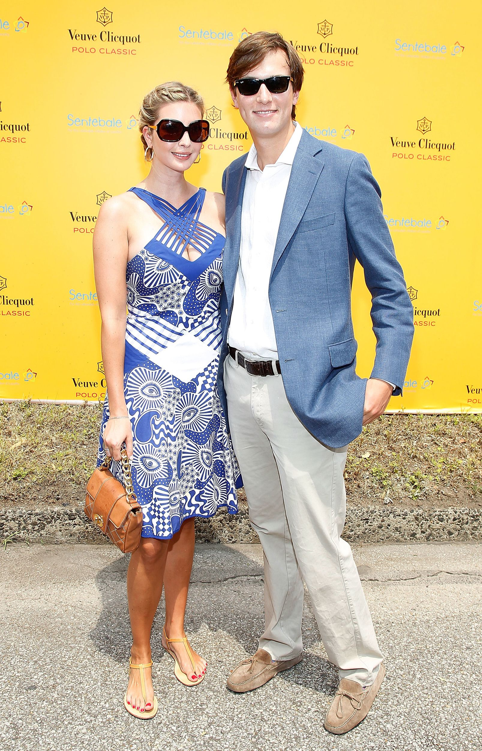 NEW YORK - JUNE 27: Ivanka Trump and Jared Kushner attend the 3rd annual Veuve Clicquot Polo Classic on Governors Island on June 27, 2010 in New York City.  (Photo by Joe Kohen/WireImage) via @AOL_Lifestyle Read more: https://www.aol.com/article/entertainment/2017/01/19/ivanka-trumps-dating-history-includes-hollywood-actor-topher-gr/21658741/?a_dgi=aolshare_pinterest#fullscreen