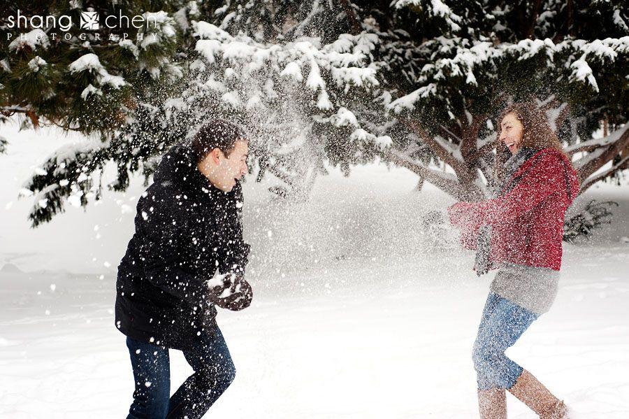 Hot lesbians and snowball brawls