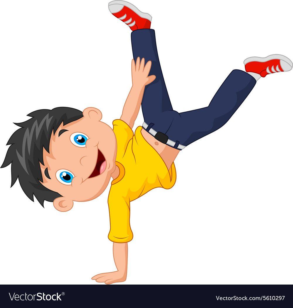 Illustration Of Cartoon Boy Standing On His Hands Download A Free Preview Or High Quality Adobe Illustrator Desenho Animado Infantil Educacao Fisica Desenhos
