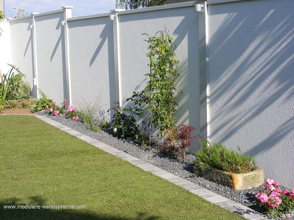 Laerm Und Sichtschutzwand Con Imagenes Jardines Terraza