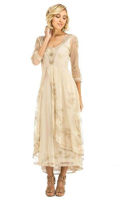 Vintage-Inspired Bridesmaid Dresses Tan