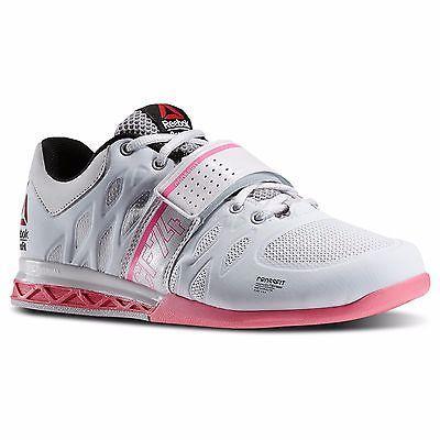 295995be8eb3 New-Women-039-s -REEBOK-Crossfit-Lifter-2-0-M43663-White-Pink-Cross-Training-Sneaker