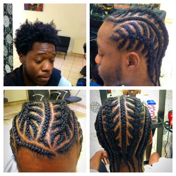 Afro to Fishbone Braids. | Cornrow hairstyles for men