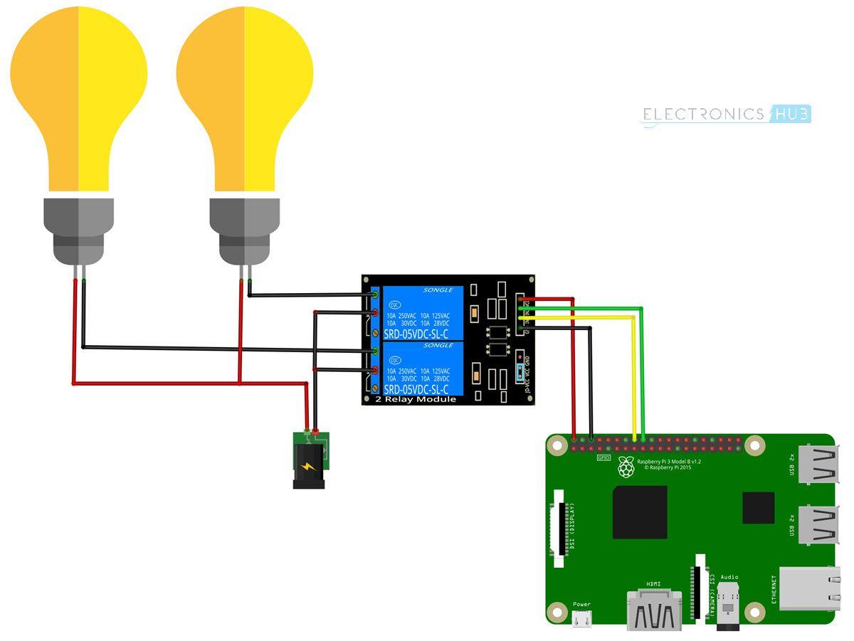 medium resolution of how to control a relay using raspberry pi circuit diagram