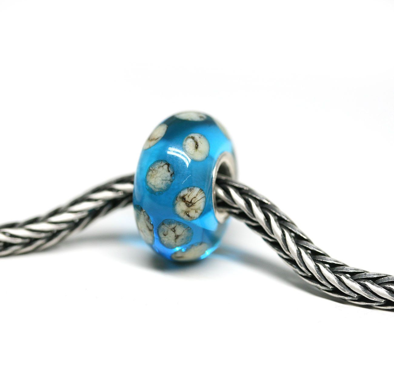 European style charm European bracelet Large hole bead Ocean jewelry Teal green and Black big hole bracelet bead