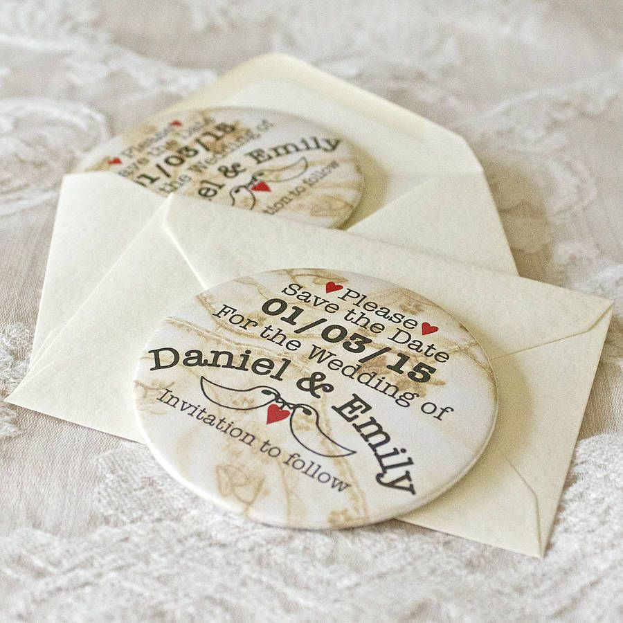 Personalised Save The Date Magnet And Envelope | Wedding, Wedding ...