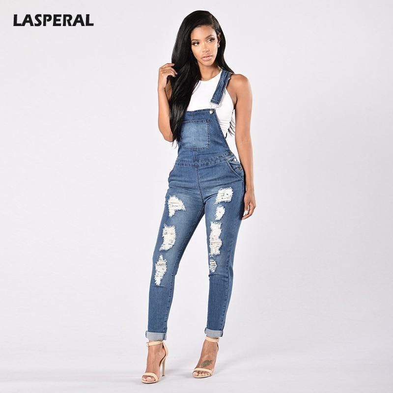 d2a08149e052 Item Type  Jumpsuits   Rompers Gender  Women Pattern Type  Solid Brand  Name  LASPERAL Type  Jumpsuits Decoration  Hollow Out Fabric Type  Denim  Style  High ...