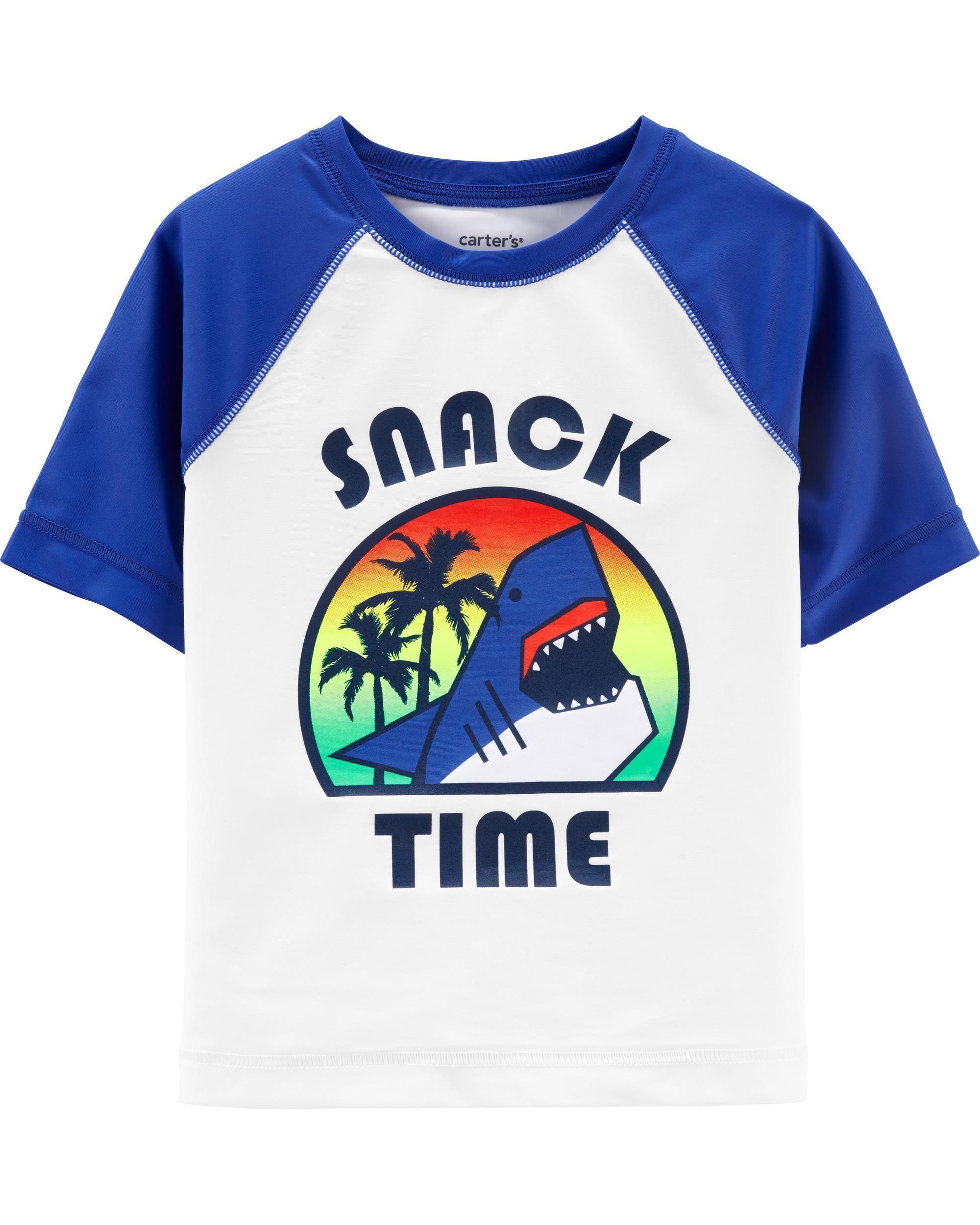 e2eacfc805 OshKosh Snack Time Rashguard | SWIM | Boys swimwear, Rash guard ...