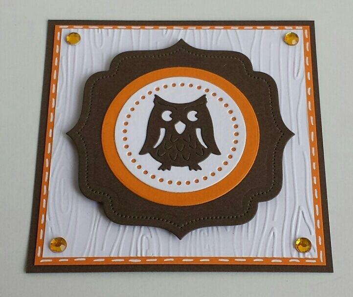 Eule, Owl, Little B Dies, Embossing-Folder, Rayher Stanzschablone