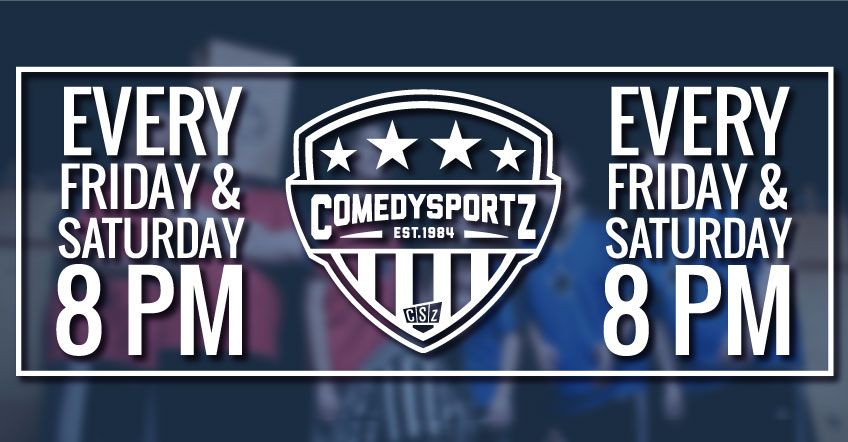 Houston's Longest Running Show  Always fast-paced and funny, ComedySportz matches are perfect for everyone  from a bachelorette party to your grandmother! ComedySportz is clean comedy  that's fun for everyone!  Children under six years of age are not admitted into 8:00pm shows.