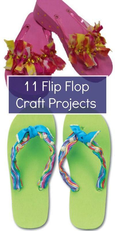 11 Flip Flop Craft Projects Flip Flop Craft Diy Flip Flops Flop