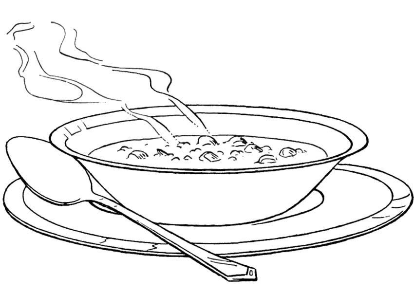 Soup Bowl Coloring Page Food Coloring Pages Coloring Pages Free Coloring Pages