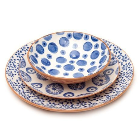 Dinnerware  sc 1 st  Pinterest & terracotta hand-stamped dinnerware made in Portugal: | Geschirr ...