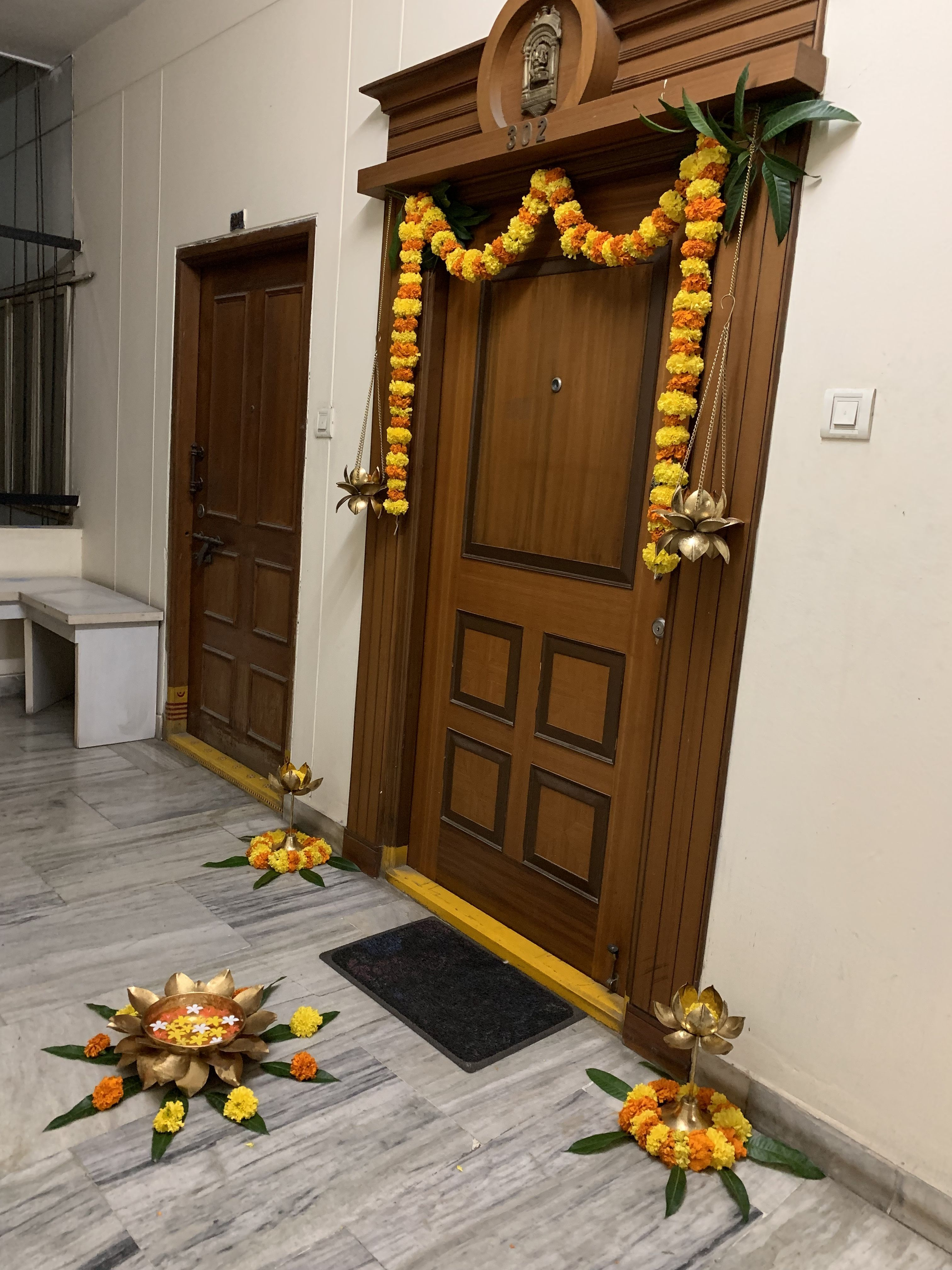 Diwalidecorationsathome Diwali Decorations At Home Pooja Room Door Design Home Entrance Decor
