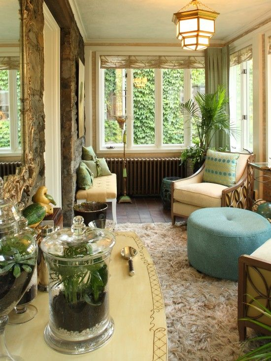 superior Sunroom Interior Decorating Part - 13: Eclectic Tropical Interior Decorating Design, Pictures, Remodel, Decor and  Ideas