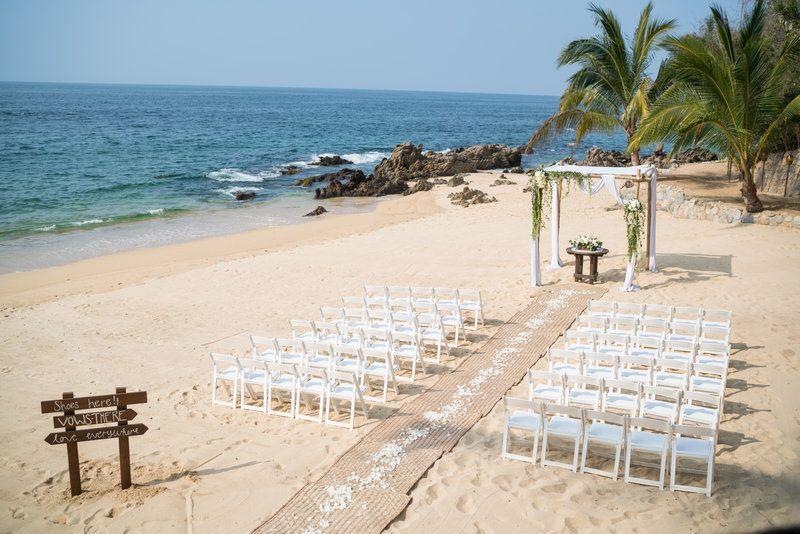 Las Caletas Puerto Vallarta Beach Mexico Wedding Mexico Wedding Wedding Ceremony Setup Wedding
