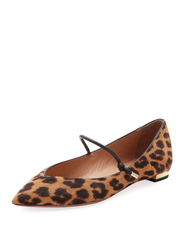 ce8ce97e84d8 Aquazzura Stylist Leopard-Print Ballet Flats | My Style | Ballet ...