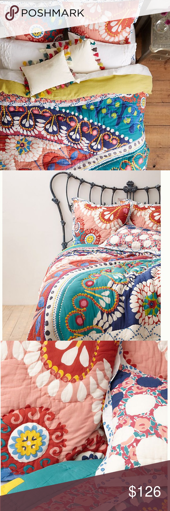 Anthropologie Tahla Twin Quilt And Euro Sham Twin Quilt Anthropologie Bedding Quilt Sizes