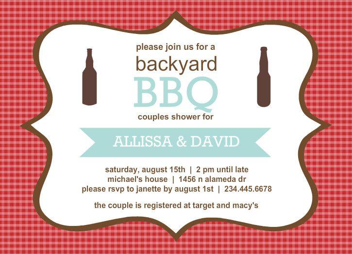 Backyard Bbq Couples Shower Invitation By PurpletrailCom