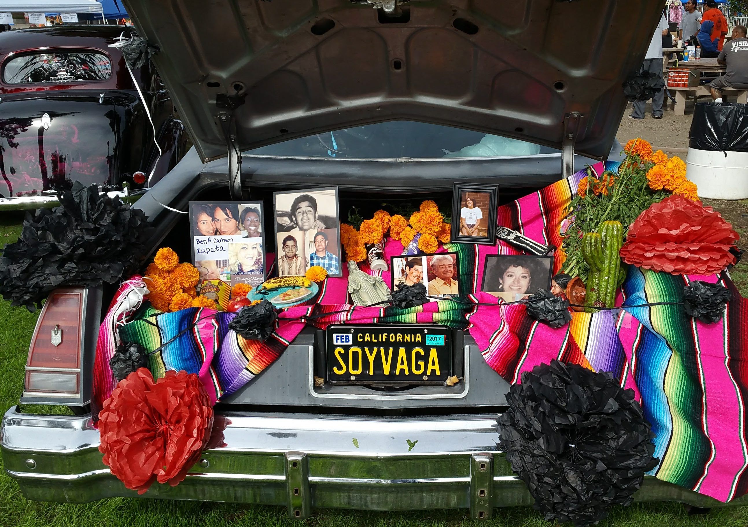 Solana Beach Car Show Day Of The Dead Altar Vintage Cars