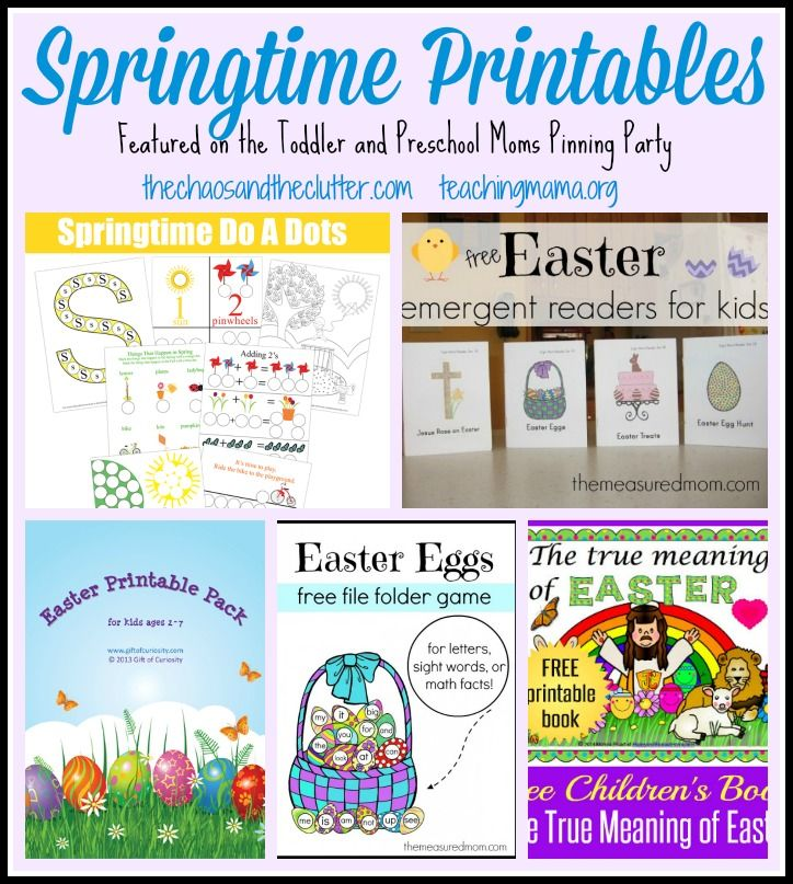 Featured 5 Spring Projects: Springtime Printables Featured On The Toddler And