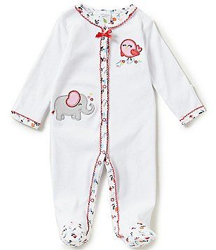7dfe4fe86e0e Starting Out Baby Girls Newborn-6 Months Elephant Footed Coverall ...