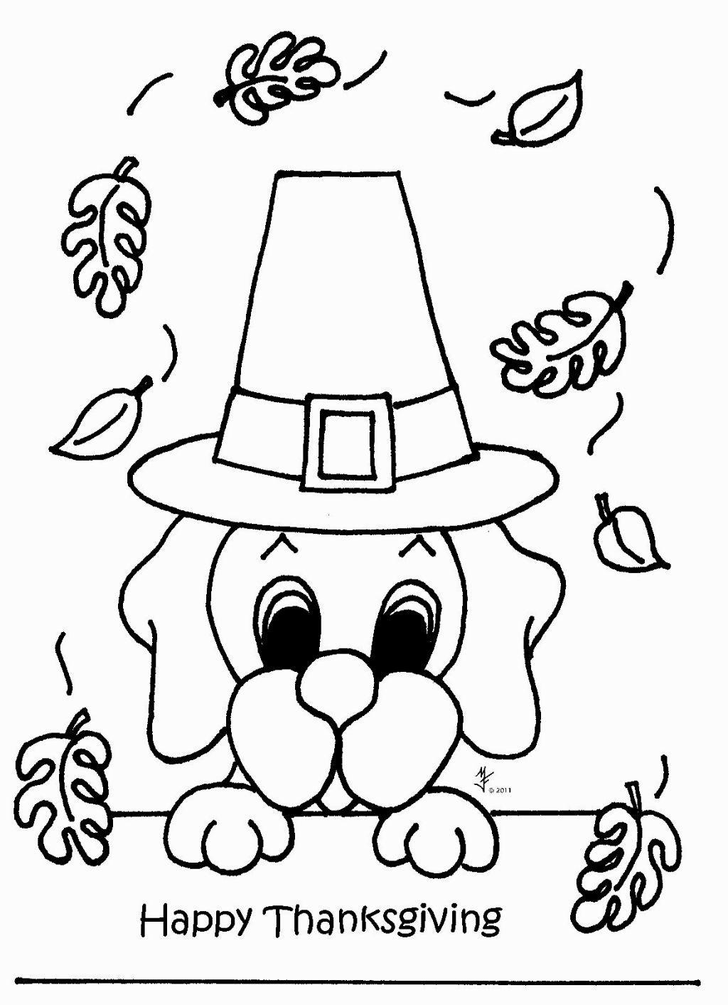 November Coloring Page Gambar