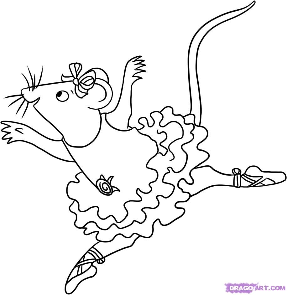 How To Draw Angelina Ballerina By Dawn With Images Ballerina