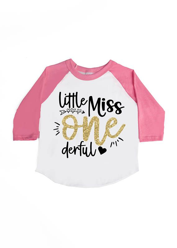 Little Miss ONE Derful Shirt