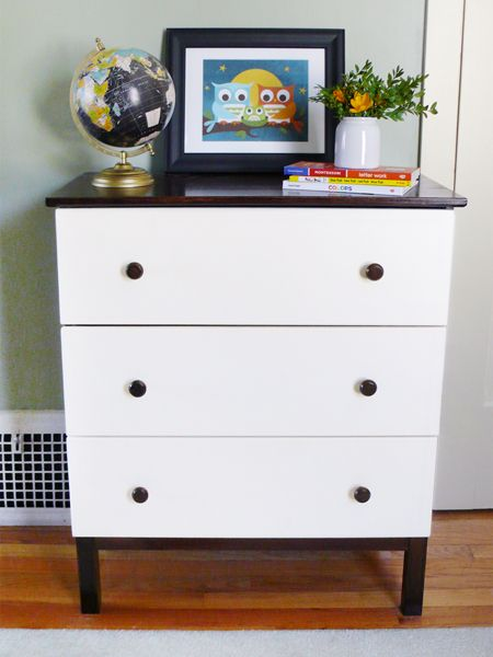a diy ikea tarva dresser for our modern kid design projects blog. Black Bedroom Furniture Sets. Home Design Ideas