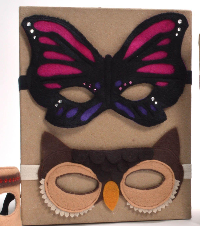 Butterfly Owl Felt Mask PDF directions Free From Joann.com | Masky ...